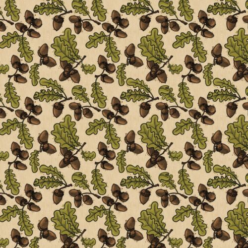 Acrons and Oak Leaves by Patrick Lose Autumn 100/% cotton fabric by the yard