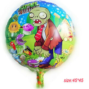 5pcs plantas vs zombies 18 mylar decoraciones con globos for Decoracion con globos plantas contra zombies