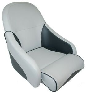 Deluxe-Flip-Up-Helmsman-Padded-Boat-Seats-Seat-Marine-Light-Grey-and-Charcoal