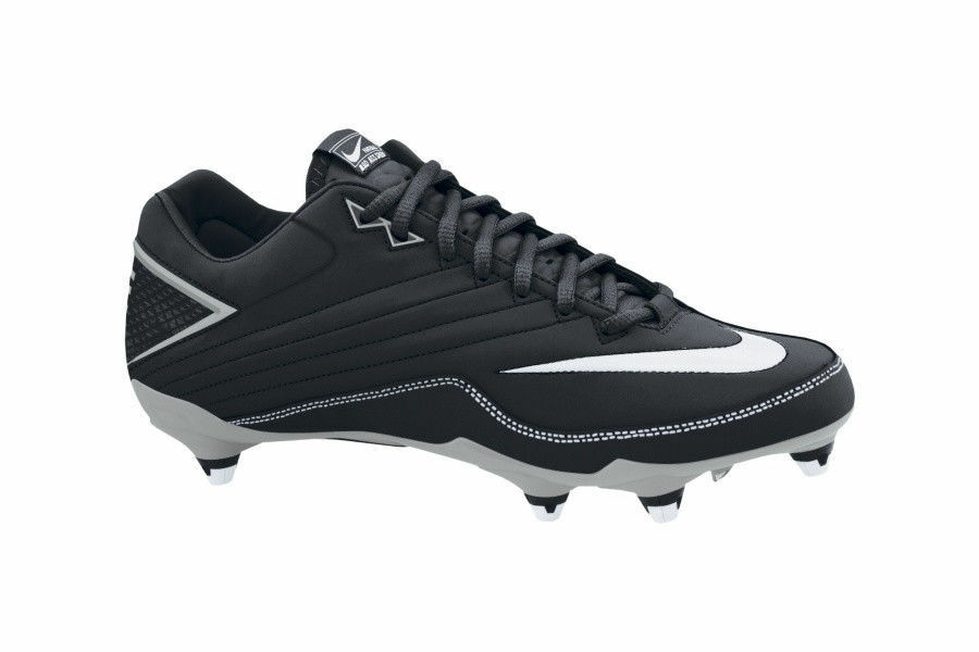 New Mens NIKE Super Speed D Football Cleats Size 9 or 9.5 Black silver MSRP  90