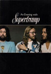 SUPERTRAMP 1977 UK TOUR CONCERT PROGRAM BOOK BOOKLET / RICK DAVIES / EX 2 NMT
