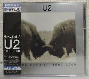 U2 - THE BEST OF U2 1990-2000 & B-Sides - Japan 1st Edition 2CD+DVD w/OBI