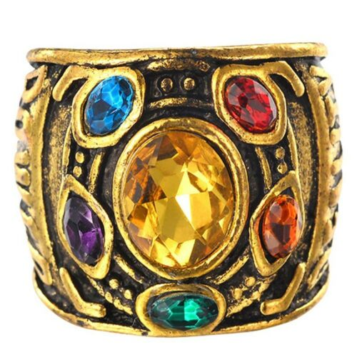 Infinity THANOS Gauntlet POWER RING Avengers Infinity War Stones Size 6-10 Great