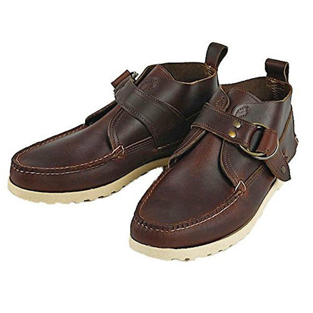 QUODDY SIPAYIK CHUKKA BOOT MOC TOE LEATHER SHOES MEN'S SIZE US 8.5 D BROWN 18981