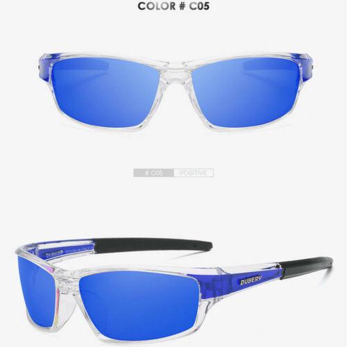DUBERY Men/'s Polarized Sport Sunglasses Outdoor Riding Fishing Goggles Glasses