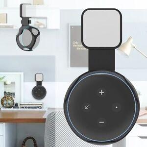 Wall-Outlet-Mount-Holder-Hanger-Bracket-For-Amazon-Echo-Dot-3rd-Generation-Black