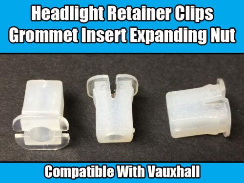 20x Clips For Vauxhall Vectra Headlight Retainer Grommet Insert Expanding Nut
