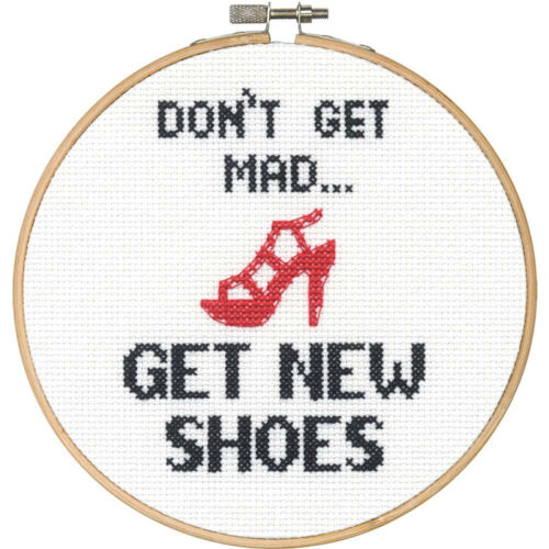 Get New Shoes #70-74697 Dimensions Counted Cross Stitch Kit ~ Don/'t Get Mad..