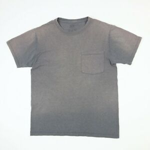 Sun-Faded-Distressed-Plain-Blank-Work-T-Shirt-SMALL-Gray-Grunge-Workwear-Skate