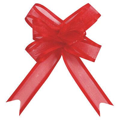 Schleifen 20 mm 5 Stk rot Organzaschleife Schleifenband Geschenkschleifen