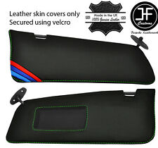 BLACK STITCH FITS RELIANT SCIMITAR GTE SE5 2X SUN VISORS LEATHER COVERS ONLY
