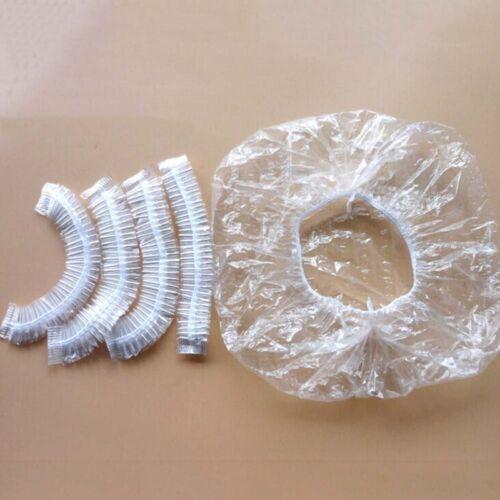 20//50//100pcs Disposable Clear Spa Hair Salon Home Shower Bathing Elastic Hat Cap