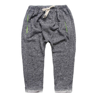 New Kids Boys Girls Toddlers Sport Casual Terry Pants Harem Trousers 2-6T P1209