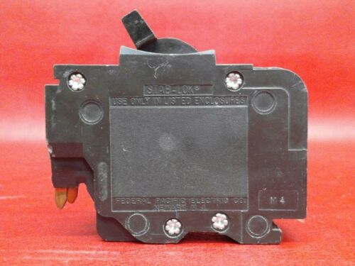 """40A Federal Pacific 40 Amp 2 Pole 1/"""" Thin NC Breaker Chipped Plastic $ave"""