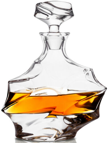 KANARS Whiskey Decanter Set with 4 Bourbon Glasses Liquor Vodka Bottle Carafe