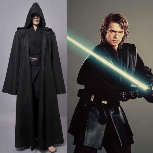 Adult Kid Black Star Wars Dark Jedi Sith Darth Vader Cosplay Costume Full Set