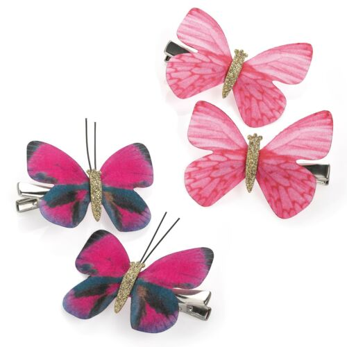 Butterfly design Hair Clip Beak Two piece set Girls Kids Accessory