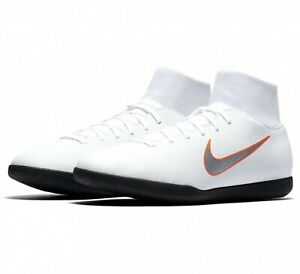 Nike-Mens-Indoor-Football-Trainers-UK-Size-8-Superfly-Shoes-White-Black