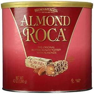 Almond Roca 42oz Canister Garden Patio Can Contains 42 Ounces