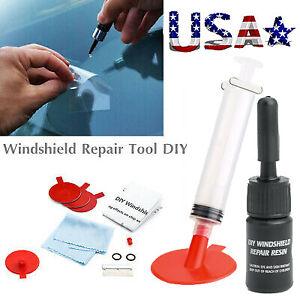 US Glass Windshield Repair Tool Kit Fix Car Wind Glass Windscreen Chip Crack