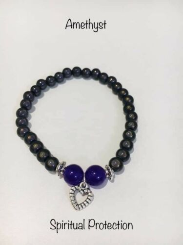 Chakra Wellbeing bracelet with miracle beads 7 designs to pick from glow