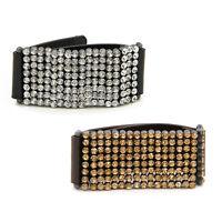 Premium Rhinestones Pu Leather Bracelet - Different Colors Available