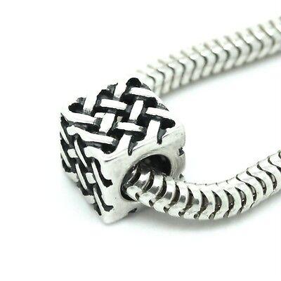 CELTIC KNOT weave- Scottish-Irish- Solid 925 sterling silver European charm bead