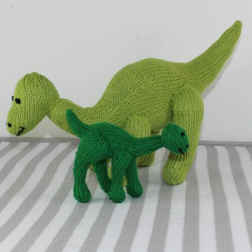 Imprimé instructions-Mignon Mère et bébé Jouet Dinosaures Animal Knitting Pattern