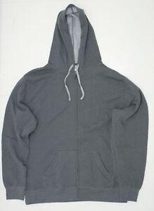nEW-Independent-Trading-Mens-Full-Zip-Deluxe-Hooded-Sweatshirt-Grey-XXL-03962