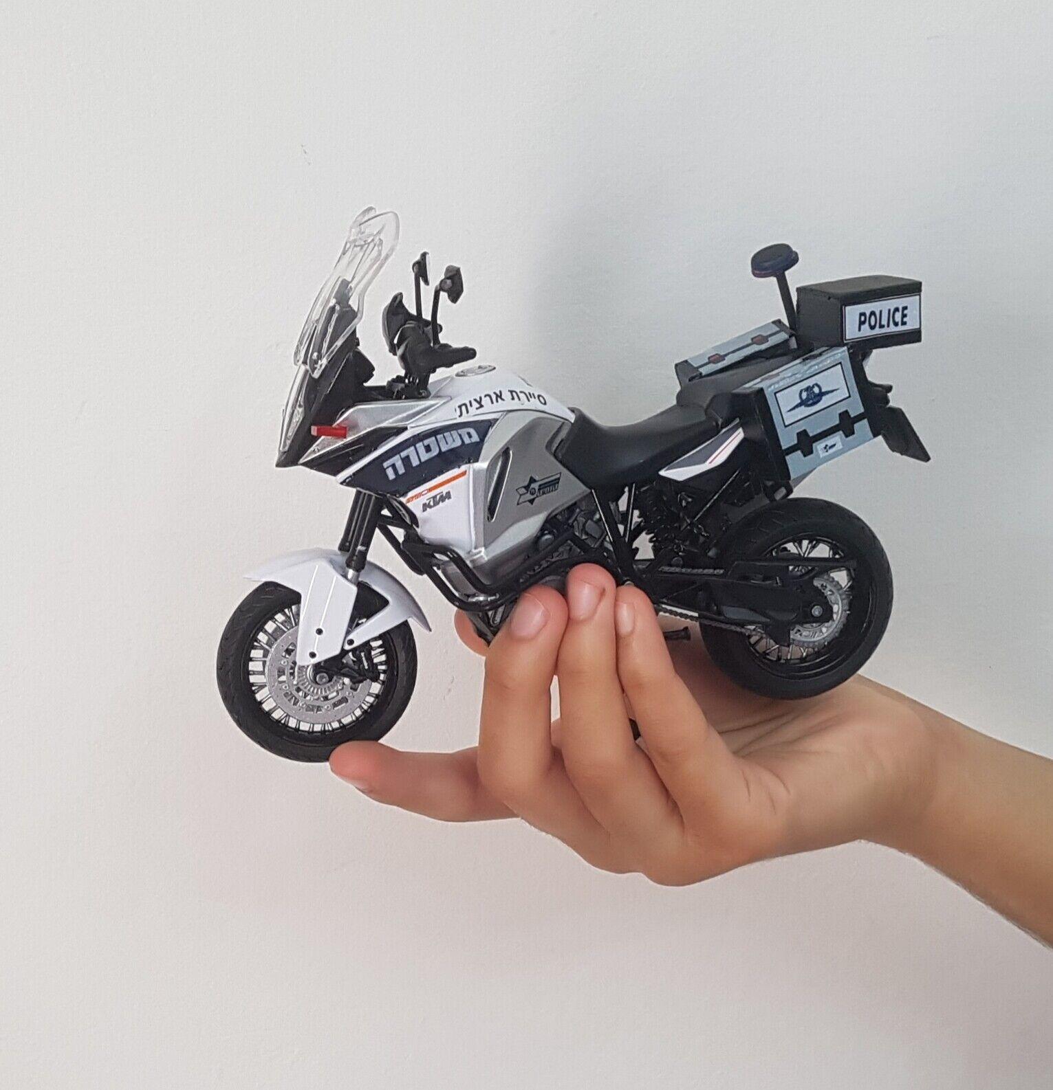 ULTRA RARE ISRAEL POLICE MOTO KTM SUPER AVENTURE échelle 1290 Modèle 1 12