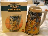 BUDWEISER SALUTES HEROES OF THE HARDWOOD LIMITED EDITION STEIN