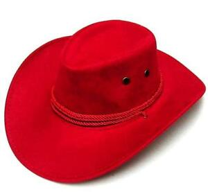 b77eaa0c 1 RED ROPER COWBOY HAT with rope headband western cowboys wear caps ...