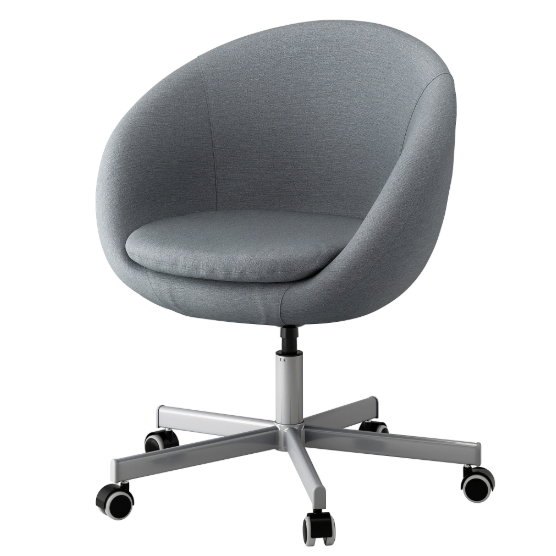 IKEA SKRUVSTA Drehstuhl In grau Bürostuhl Schreibtischstuhl Sessel