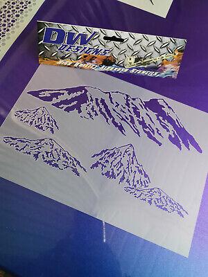 mountains mylar airbrush stencil