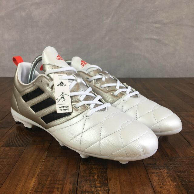 263a611dce6c Adidas Ace 17.3 FG Soccer Cleats Futbol White Silver BA8556 Womens Size 9.5
