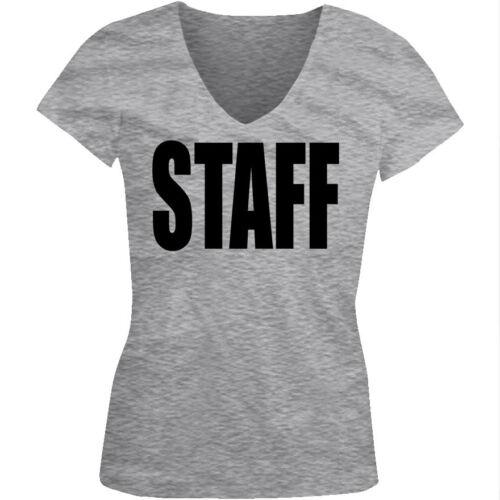 Staff Official Employee Backstage Personnel Team Work Am Juniors V-Neck T-Shirt
