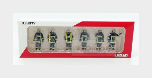 Figures Set 6X Urbain Sapeurs Pompiers Blue Yellow ALERTE 1:43 ALERTE0085 Modell