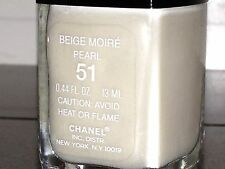 Chanel Vernis BEIGE MOIRE PEARL #51 Shimmer Nail Polish Limited Super RARE NIB!!