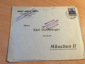 Germany-Reich-cover-from-Antwerpen-to-Munich-10-2-1915-censor-checked