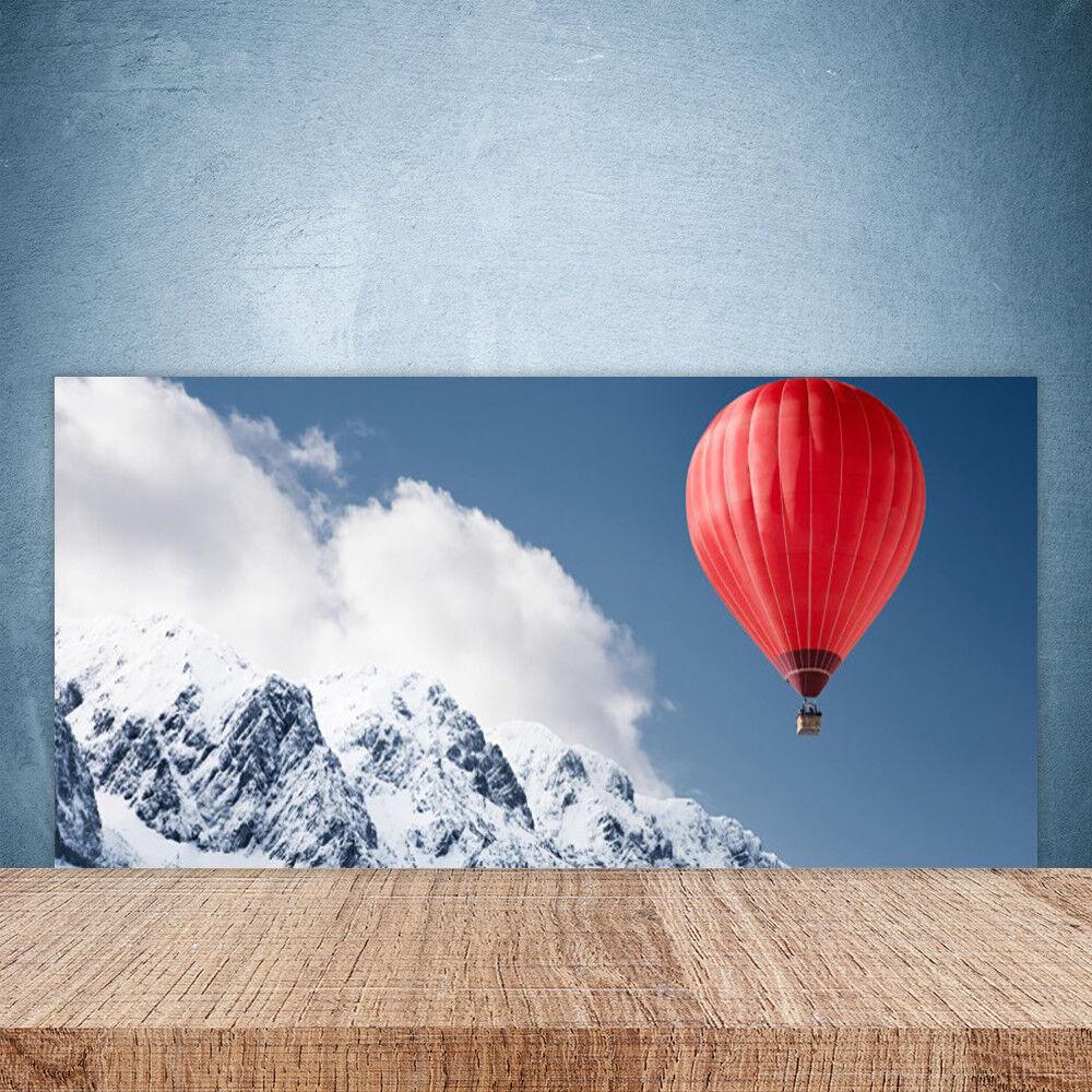 Crédence de cuisine en verre Panneau Paroi 100x50 Montagne Ballon à Air Chaud