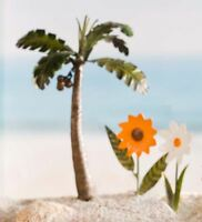 Wind & Weather® Fairy Garden Metal Palm Tree & Flower Stakes, Set Of 3 on sale