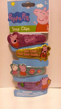 PEPPA PIG 4 PIECES HAIR CLIPS 4 DIFFERENT COLORS KID HAIR ACCESSORIES ORIGINAL