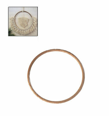 S7822 Proops 5x Extra Large 30cm Round Brown Plastic Macrame Ring Rings Hoops