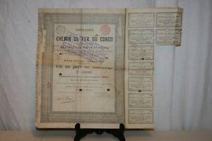 Ancienne Action Compagnie Du Chemin De Fer Du Congo De 1889. Ggej9a7d-07221353-684424112