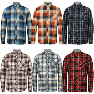 New-Mens-Tokyo-Laundry-Cotton-Long-Sleeve-Checked-Flannel-Shirt-Size-S-XXL