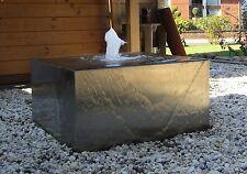 Wasserspiel Quader Würfel 30/30/20 cm Edelstahl matt gebürstet Springbrunnen