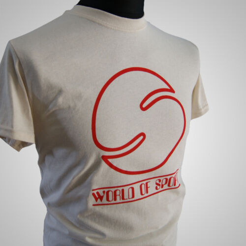World of Sport Retro Sports T Shirt 70/'s Big Daddy Vintage Cool Hipster Natural