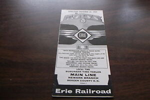OCTOBER-1959-ERIE-RAILROAD-FORM-7-MAIN-LINE-NEWARK-BRANCH-PUBLIC-TIMETABLE