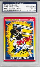 MIKE SINGLETARY Signed 1990 SCORE Chicago BEARS Smash! CARD #554 Baylor PSA/DNA