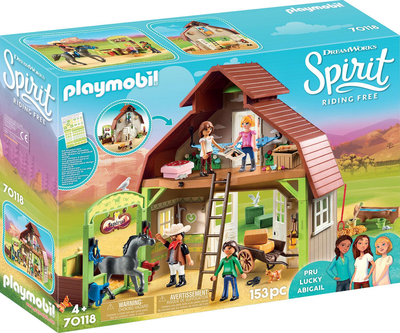 PLAYMOBIL® Spirit Riding Free 70118 Stall mit mit mit Lucky Pru & Abigail 427ad0